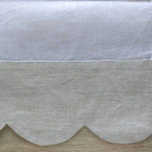Brise-bise blanc FESTONS LIN