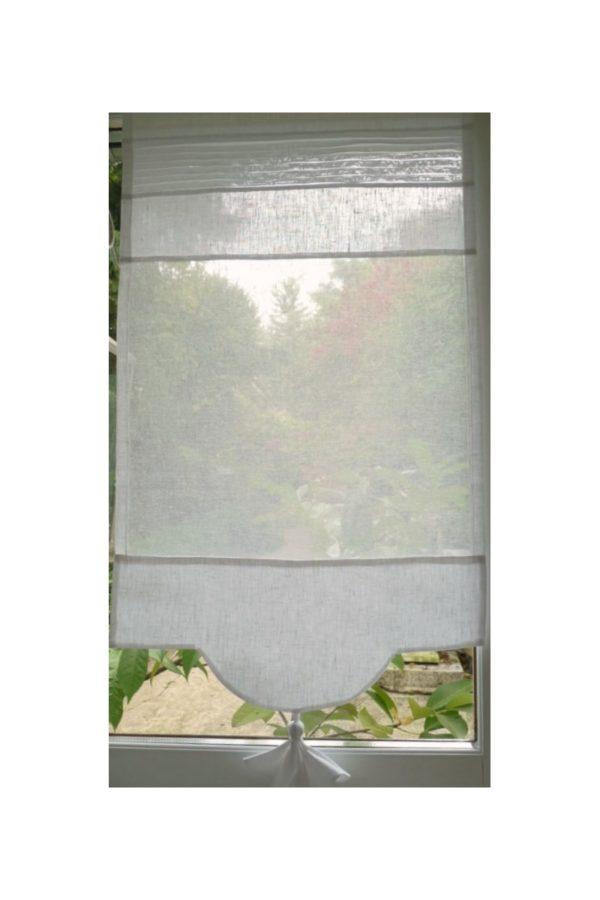 Brise bise sur mesure lin blanc Modèle MIMOSA