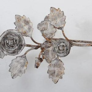 Embrasses de rideau COQUECIGRUES Métal Roses Blanc rouille