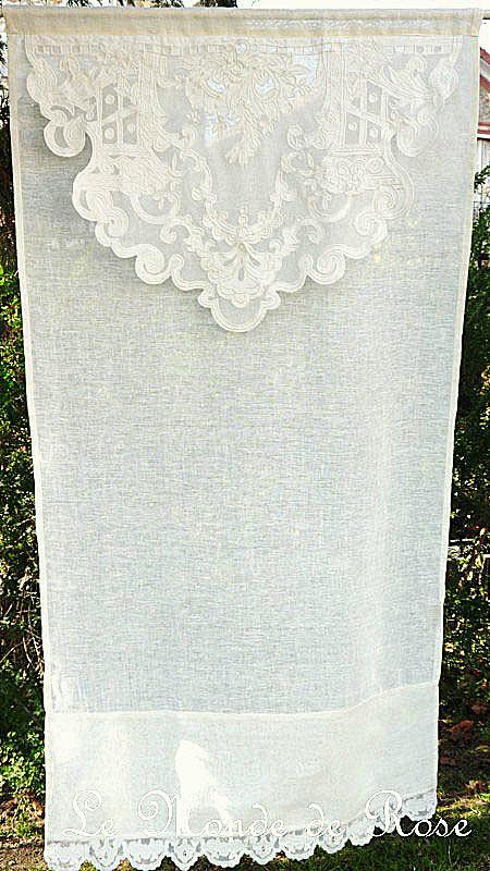 Rideau COQUECIGRUES Modèle REINE 80x140 cm - Le Monde de Rose