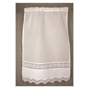 rideau blanc crochet