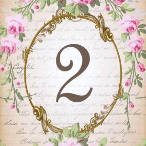 Numéro de maison carrelage imprimé