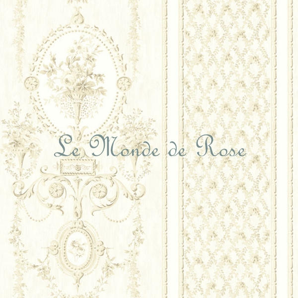 papier peint modele m daillon de roses shabby beige bordures le monde de rose. Black Bedroom Furniture Sets. Home Design Ideas