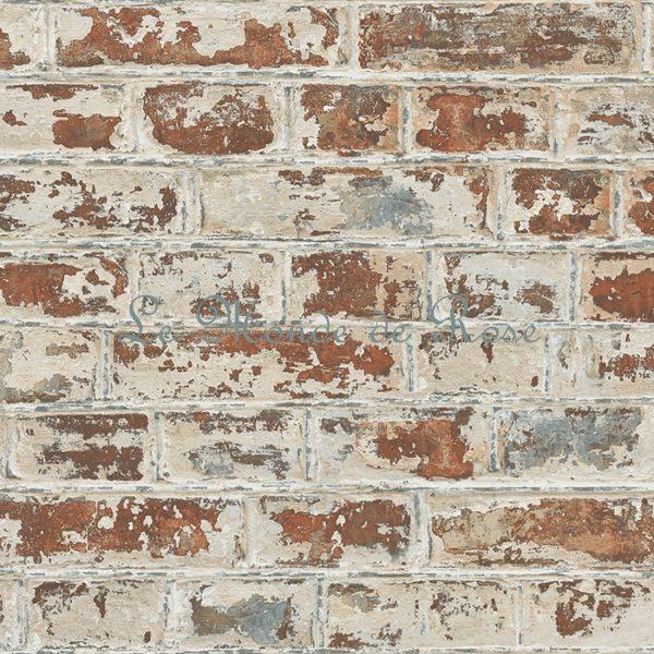 Papier Peint Style Industriel Briques Couleur Naturelle Le Monde