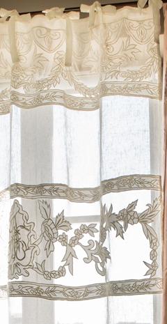 Rideau en lin naturel ivoire MODÈLE LOU 140 x 280 cm