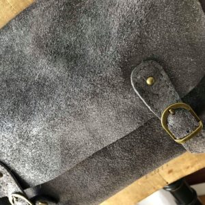 Sac CARTABLE pailleté GRIS