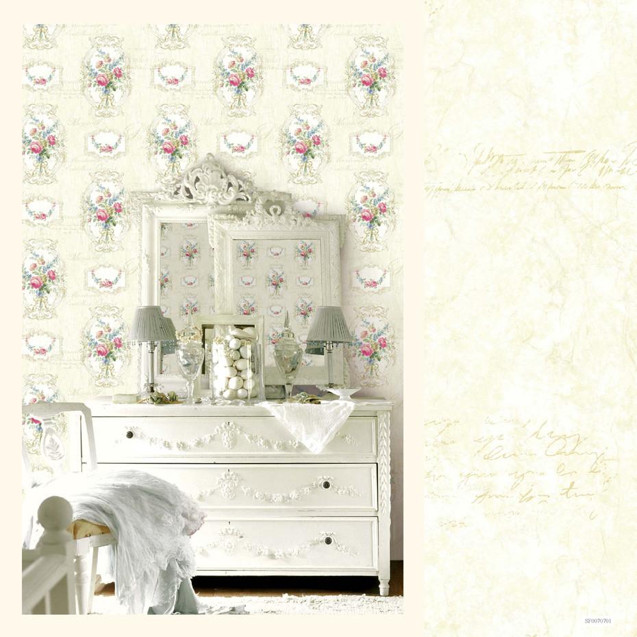 papier peint mod le guirlande de roses shabby 4 le monde de rose. Black Bedroom Furniture Sets. Home Design Ideas