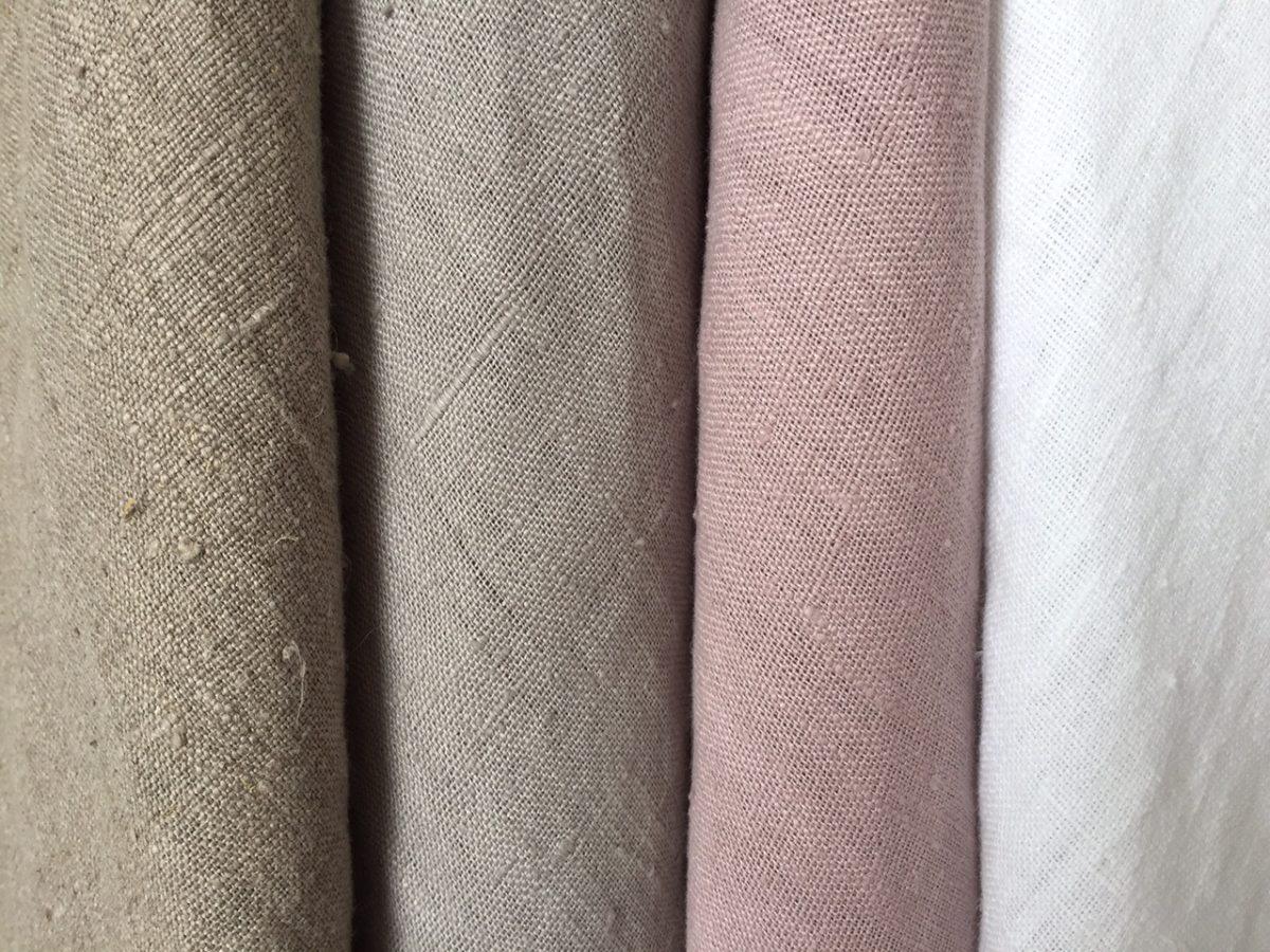 rideau lin lav illets sur mesure le monde de rose. Black Bedroom Furniture Sets. Home Design Ideas
