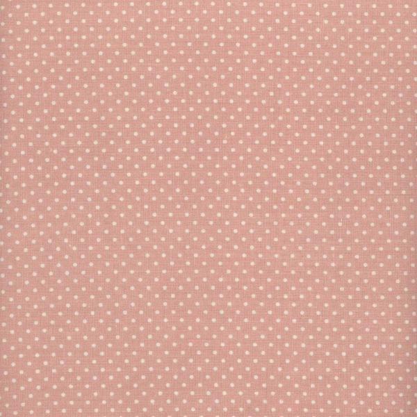 toile enduite mod le mini pois fond rose p le le monde de rose. Black Bedroom Furniture Sets. Home Design Ideas