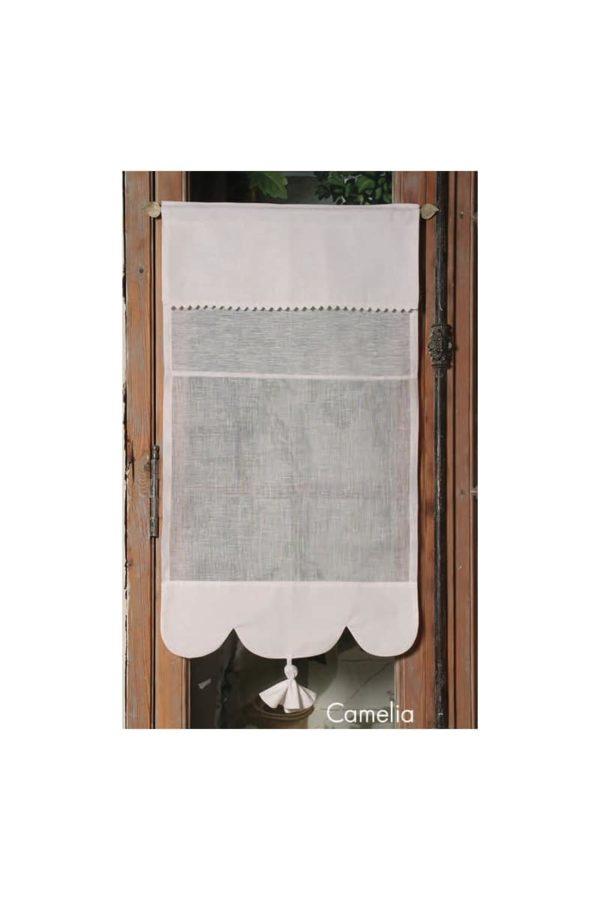 Brise bise sur mesure lin blanc Modèle CAMÉLIA