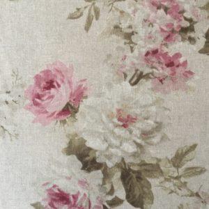 Tissu MODÈLE SHABBY LIN grandes fleurs largeur 280 cm