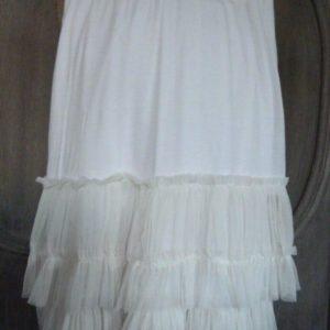 jupe en tulle blanche