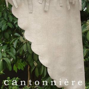 Cantonnière FESTONS CHIC lin beige