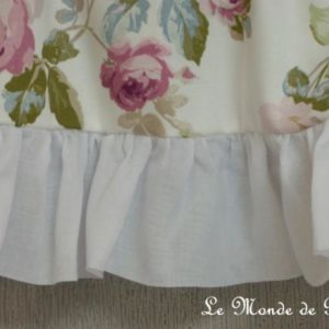Cantonnière ou rideau bonne femme Aubusson Blanc