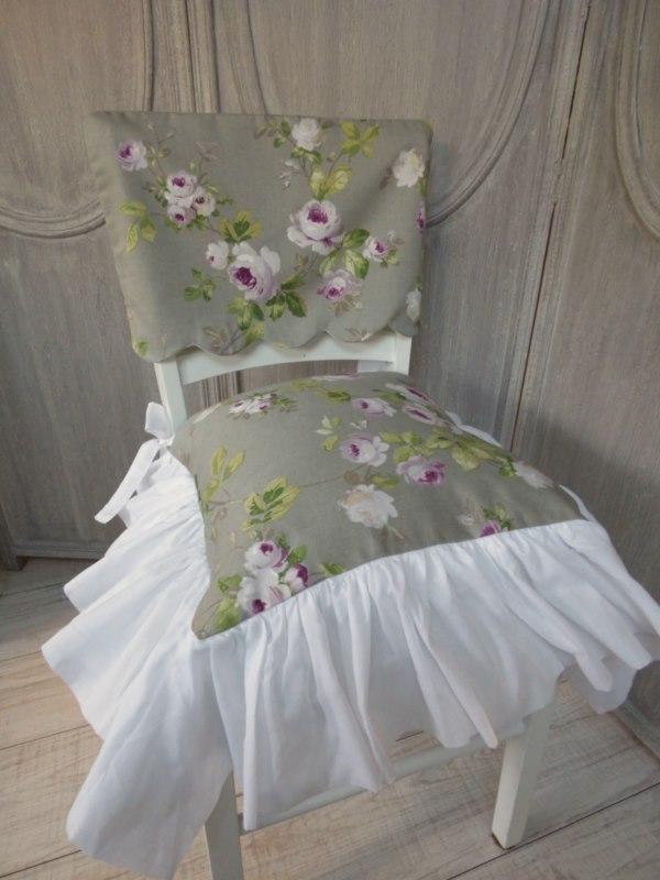 aubusson gris housse dossier de chaise le monde de rose. Black Bedroom Furniture Sets. Home Design Ideas