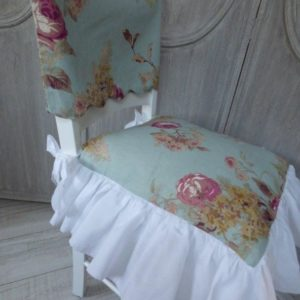 Housse dossier de chaise Cottage Blue