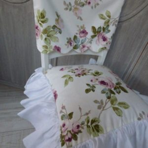 Housse dossier de chaise Aubusson Blanc