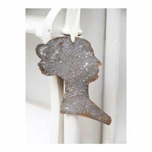 Silhouette femme en métal