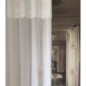 Rideau blanc Modèle CHEVERNY à œillets 150 x 260 cm