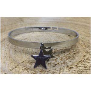 Bracelet DOUBLE ÉTOILES argenté