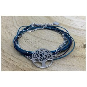Bracelet ARBRE DE VIE bleu