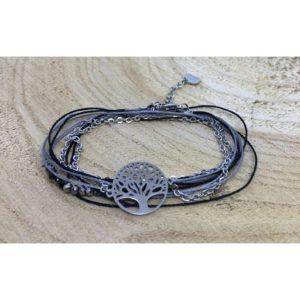 Bracelet ARBRE DE VIE gris
