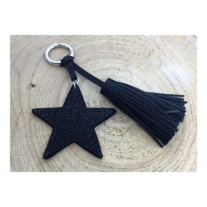 Bijou de sac - Porte-clés ÉTOILE noir