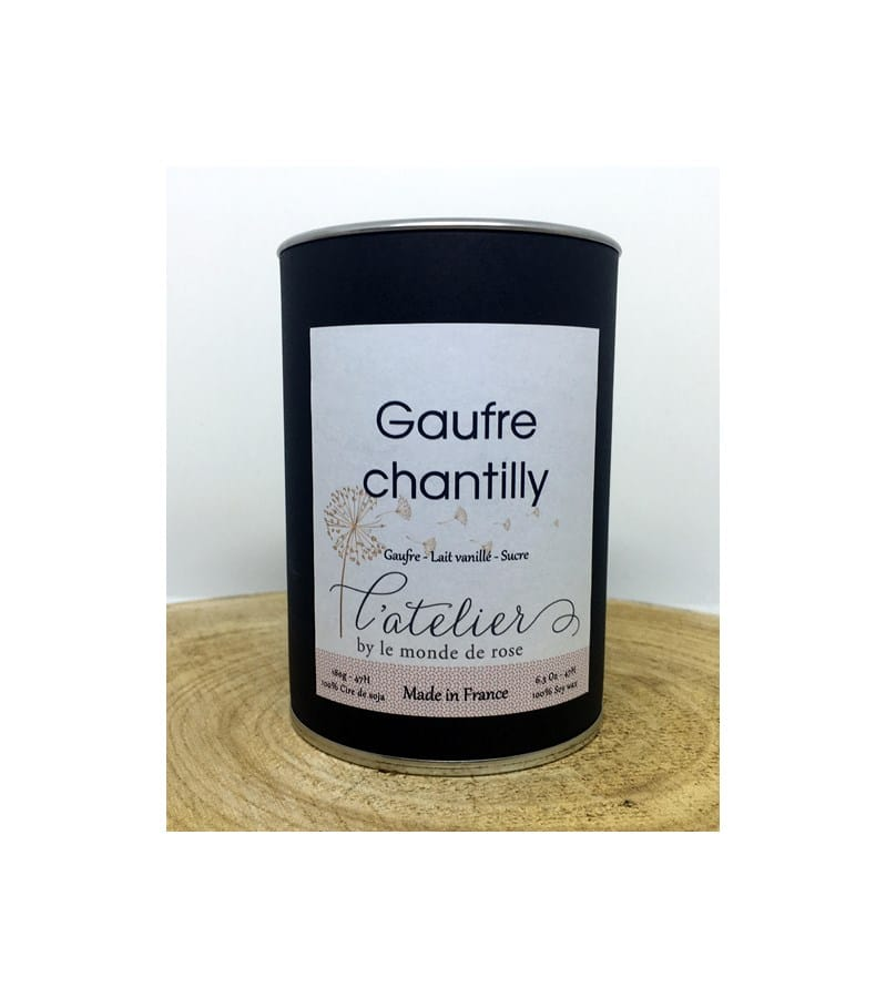 Bougie artisanale GAUFRE CHANTILLY