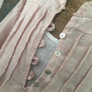 Chemise d'artiste en lin ROSE PÂLE