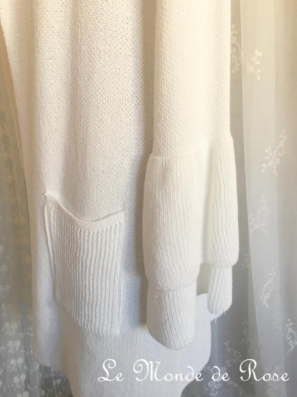 gilet long blanc manches volant es le monde de rose. Black Bedroom Furniture Sets. Home Design Ideas