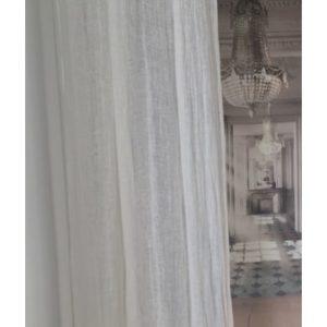 Rideau en voile de lin lavé Modèle AMBOISE 120 x 280 cm