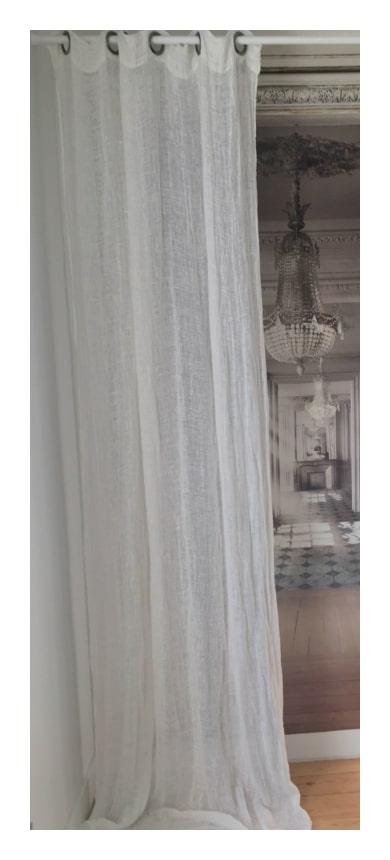 rideau en voile de lin lav mod le amboise 120 x 280 cm le monde de rose. Black Bedroom Furniture Sets. Home Design Ideas