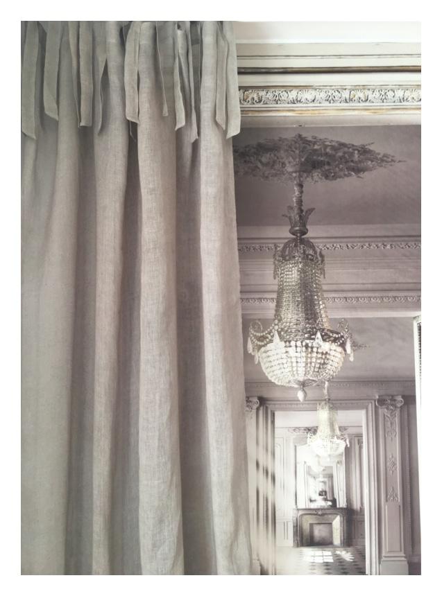 rideau voile de lin taupe 140 x 280 cm le monde de rose. Black Bedroom Furniture Sets. Home Design Ideas