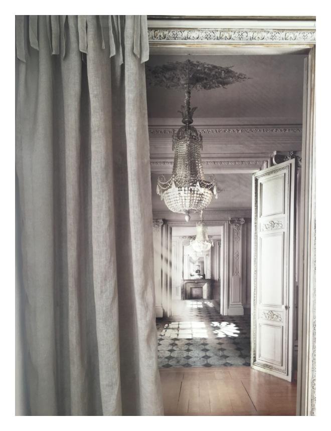 Rideau voile de lin taupe 140 x 280 cm le monde de rose - Rideau voile de lin ...