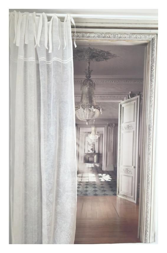 rideau lin mod le mozart 135 x 300 cm le monde de rose. Black Bedroom Furniture Sets. Home Design Ideas
