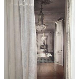 Rideau lin ivoire Modèle NICE