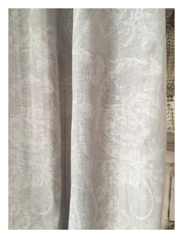 Rideau lin gris Modèle MOZART 135 x 300 cm