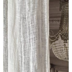 Rideau voile de lin lavé blanc Modèle PORTO VECCHIO 120 x 280 cm