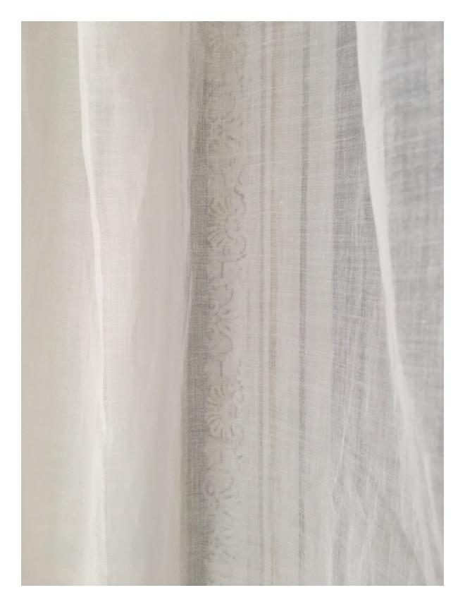 Rideau voilage shabby Modèle BEAUREGARD 140 x 280 cm - Le Monde de Rose