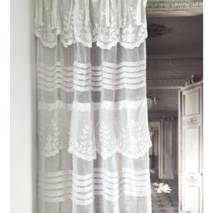 Rideau en lin blanc Modèle APT 140 x 280 cm