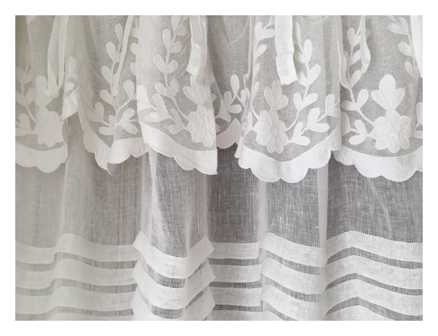 rideau en lin blanc mod le apt 140 x 280 cm le monde de rose. Black Bedroom Furniture Sets. Home Design Ideas