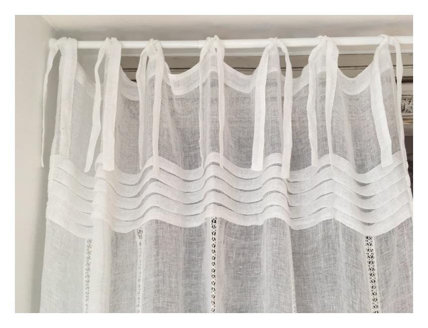 rideau en lin blanc mod le leonie 140 x 280 cm le monde de rose. Black Bedroom Furniture Sets. Home Design Ideas