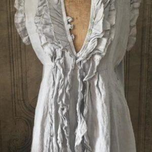 Robe Frou-Frou en lin GRIS