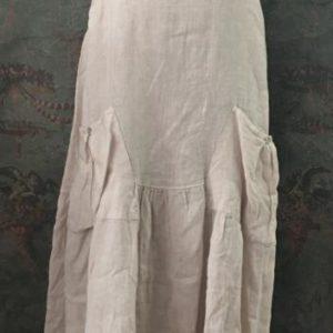 Robe longue en lin BEIGE sans manches