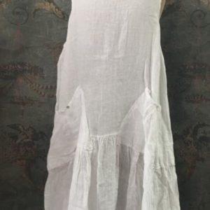 Robe longue en lin BLANCHE sans manches