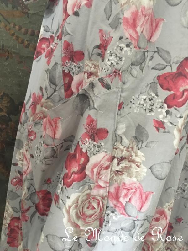 Robe coton SHABBY CHIC GRISE - Le Monde de Rose