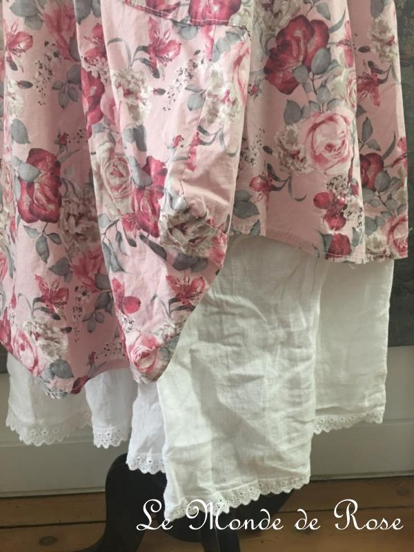 Robe coton SHABBY CHIC ROSE - Le Monde de Rose