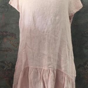 Robe tunique en lin ROSE à volants