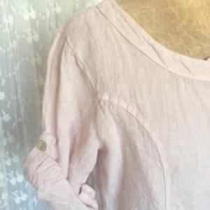 Veste à manches courtes lin ROSE