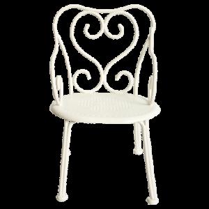 Chaise de poupée en métal blanc Maileg